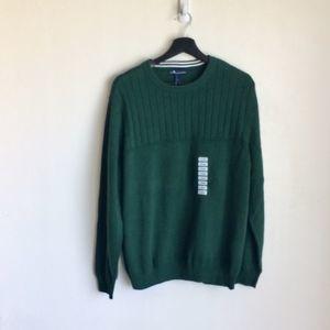 John Ashford Men's Green Cotton Sweater NWTS